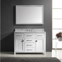 Buy Virtu USA Caroline 48 Inch Single Square Sink Bathroom Vanity in White on sale online