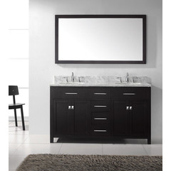 Buy Virtu USA Caroline 60 Inch Double Sink Bathroom Vanity in Espresso on sale online