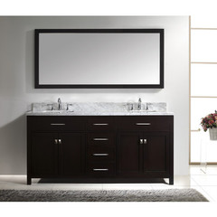 Buy Virtu USA Caroline 72 Inch Double Square Sink Bathroom Vanity in Espresso on sale online