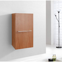 Buy Virtu USA Carvell 16 Inch Vanity Side Linen Cabinet in Chestnut on sale online
