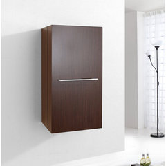 Buy Virtu USA Carvell 16 Inch Vanity Side Linen Cabinet in Walnut on sale online