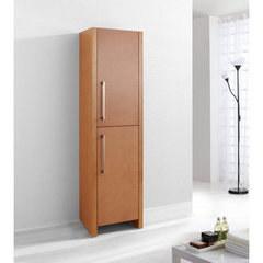 Buy Virtu USA Delano 16 Inch Vanity Side Linen Cabinet in Chestnut on sale online