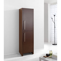 Buy Delano 16 Inch Vanity Side Linen Cabinet in Walnut on sale online