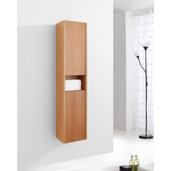 Buy Virtu USA Delmore 12 Inch Vanity Side Linen Cabinet in Chestnut on sale online