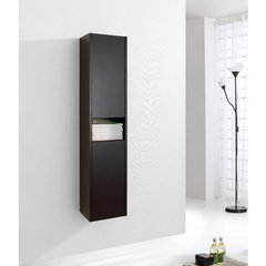 Buy Virtu USA Delmore 12 Inch Vanity Side Linen Cabinet in Espresso on sale online