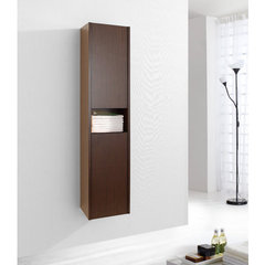 Buy Virtu USA Delmore 12 Inch Vanity Side Linen Cabinet in Walnut on sale online