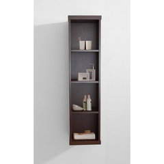Buy Virtu USA Hewitt 12 Inch Vanity Side Linen Cabinet in Walnut on sale online
