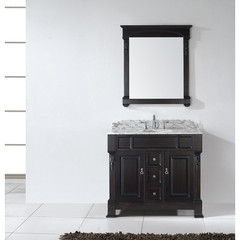 Buy Virtu USA Huntshire 40 Inch Single Sink Bathroom Vanity in Dark Walnut w/ Italian Carrara White Marble Top on sale online