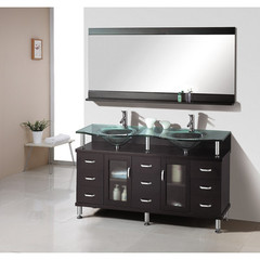 Buy Virtu USA Rocco 59 Inch Double Sink Bathroom Vanity in Espresso on sale online