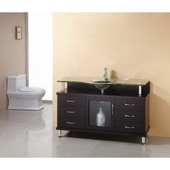 Buy Virtu USA Vincente 55 Inch Single Sink Bathroom Vanity in Espresso on sale online