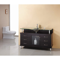 Buy Virtu USA Vincente 55 Inch Single Sink Bathroom Vanity on sale online