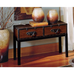 Buy Steve Silver Voyage 45x17 Sofa Table in Antique Cherry on sale online