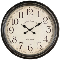 Buy Cooper Classics Whitley Clock in Aged Black on sale online