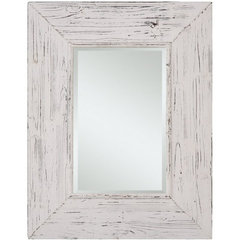 Buy Cooper Classics Wilkes 36x28 Mirror in Distressed White on sale online