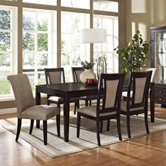 Buy Steve Silver Wilson 7 Piece 60x42 Dining Room Set in Espresso on sale online