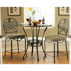 Buy Steve Silver Wimberly 3 Piece 36 Inch Round Counter Height Set on sale online