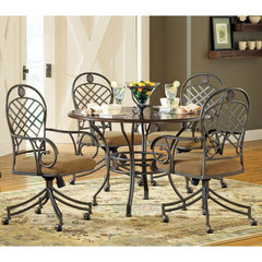 Buy Steve Silver Wimberly 5 Piece 45 Inch Round Dining Room Set w/ Arm Chairs on sale online
