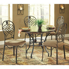 Buy Steve Silver Wimberly 5 Piece 45 Inch Round Dining Room Set w/ Side Chairs on sale online