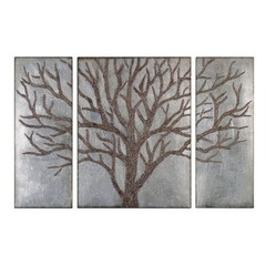Buy Uttermost Winter View 30x40 Rectangular Metal Art (Set of 3) on sale online