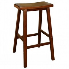 Buy American Heritage Wood Saddle 29 Inch Barstool in Walnut on sale online