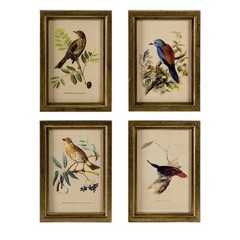 Buy IMAX Worldwide Wooden Bird Plaques (Set of 4) on sale online