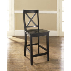 Buy Crosley Furniture X-Back 24 Inch Barstool in Black on sale online