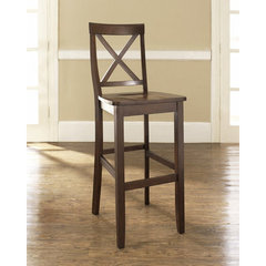 Buy Crosley Furniture X-Back 30 Inch Barstool in Mahogany on sale online