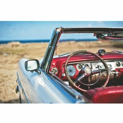 Buy Yosemite Home Decor Cruisin 47x32 Rectangular Wall Art on Glass on sale online