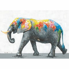 Buy Yosemite Home Decor Dazzling Elephant 39x28 Rectangular Wall Art on sale online