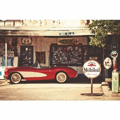 Buy Yosemite Home Decor Retro Convertible 47x32 Rectangular Wall Art on sale online