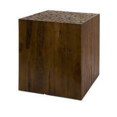 Buy IMAX Worldwide Zatana Teak Wood 16 Inch Square Side Table on sale online