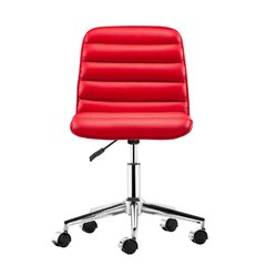 Buy Zuo Modern Admire Office Chair w/ Casters in Red on sale online