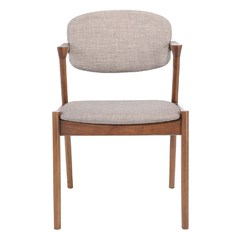 Buy Zuo Modern Brickell Modern Upholstered Dining Chair in Dove Gray on sale online