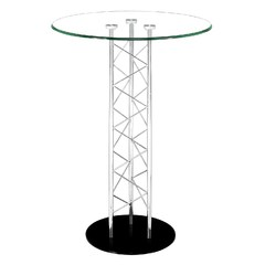 Buy Zuo Modern Chardonnay 31x31 Round Bar Table in Chrome on sale online