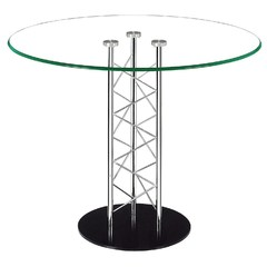 Buy Zuo Modern Chardonnay 39x39 Round Dining Table in Chrome on sale online
