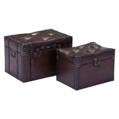 Buy Zuo Modern Deleuze Trunk Vintage in Brown (Set of 2) on sale online