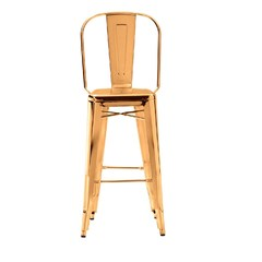 Buy Zuo Modern Elio Modern 30 Inch Armless Bar Stool in Gold on sale online