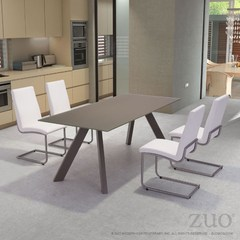 Buy Zuo Modern Emard 5 Piece 79x35 Rectangular Dining Room Set in Iron on sale online