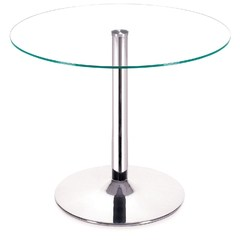 Buy Zuo Modern Galaxy 39x39 Round Dining Table in Chrome on sale online