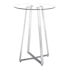 Buy Zuo Modern Lemon Drop 32x32 Round Bar Table in Chrome on sale online