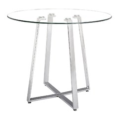 Buy Zuo Modern Lemon Drop 40x40 Round Counter Table in Chrome on sale online
