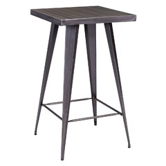 Buy Zuo Modern Olympia 24x24 Square Bar Table in Gunmetal on sale online