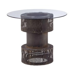 Buy Zuo Modern Rock n Roll 35x35 Round Dining Table in Rustic Black on sale online