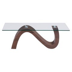Buy Zuo Modern St Laurent 47x28 Rectangular Coffee Table in Walnut on sale online
