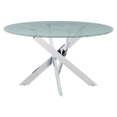 Buy Zuo Modern Stance 55x55 Round Dining Table w/ Glass Top on sale online