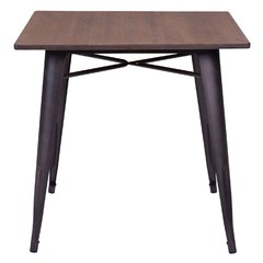 Buy Zuo Modern Titus 31x31 Square Dining Table in Rustic Wood on sale online