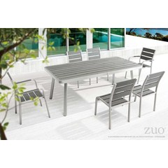 Buy Zuo Modern Township 7 Piece79x39 Rectangular Outdoor Dining Set on sale online