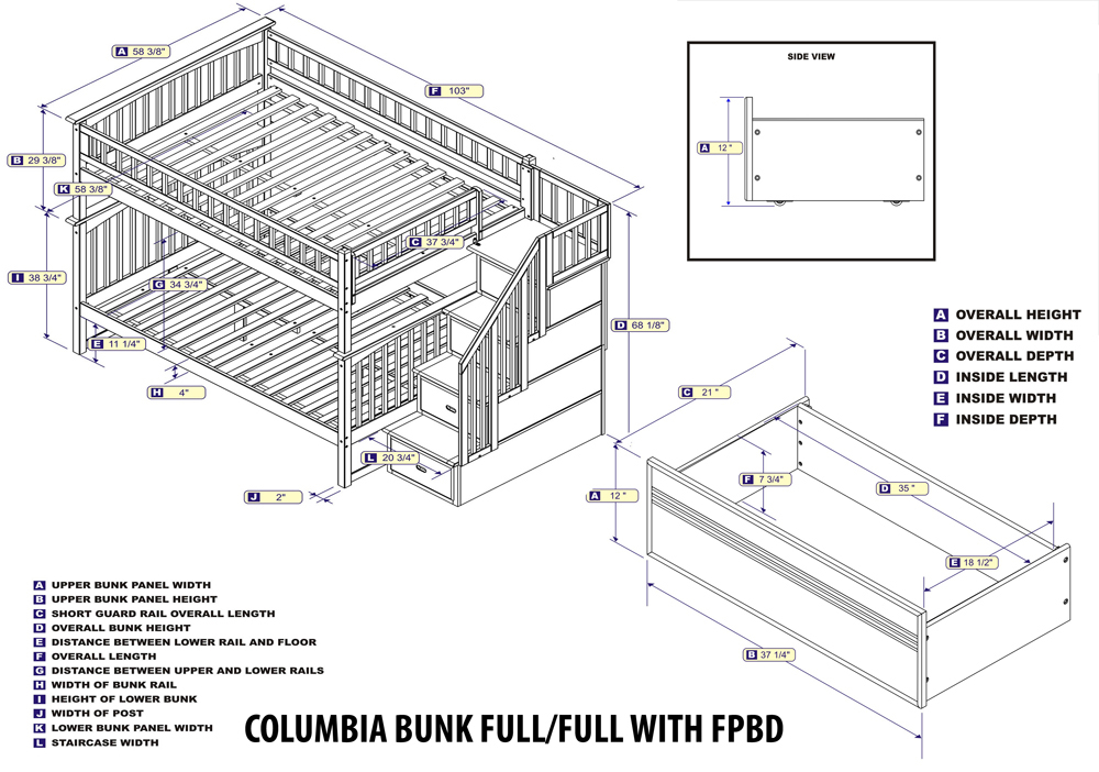 Image Result For Atlantic Furniture Columbia Full Over Full Bunk Bed With Trundle