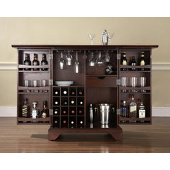 buy crosley furniture lafayette expandable bar cabinet in vintage mahogany on sale online buy home bar furniture